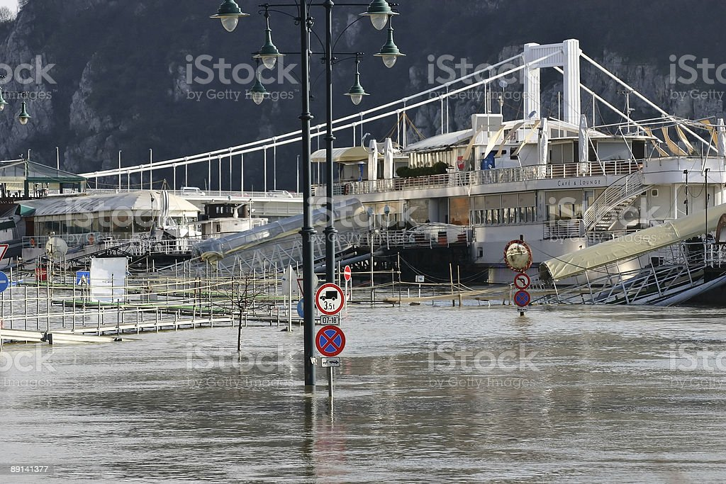 Flood in Budapest Hungary 2006 royalty-free stock photo