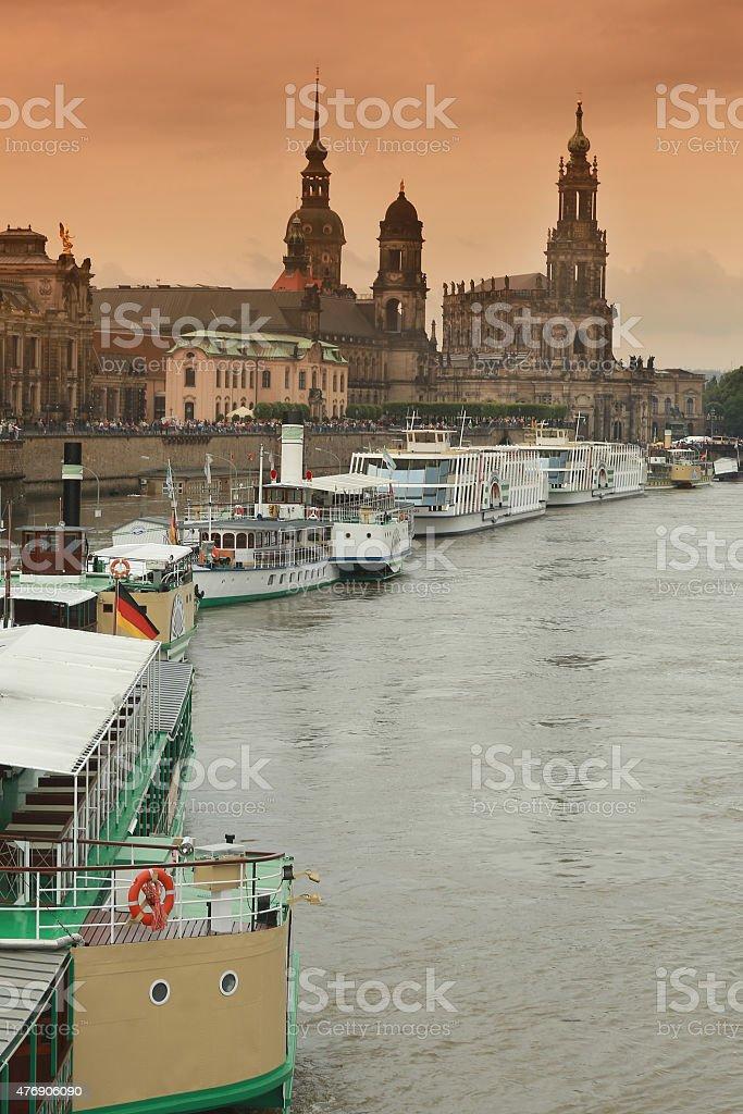 flood in Dresden 2013 stock photo