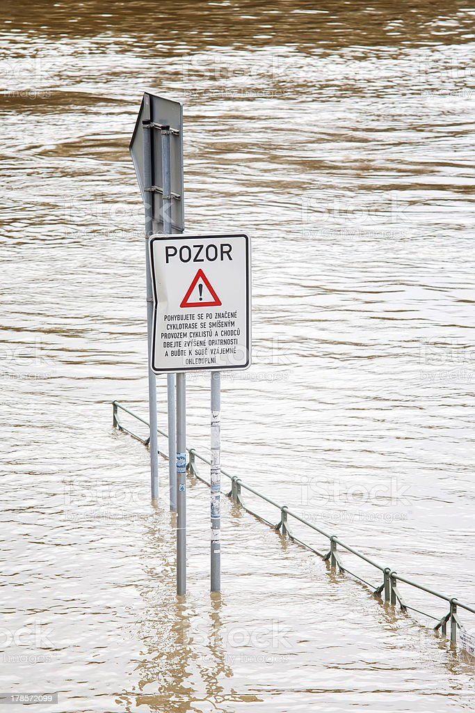 Flood in Prague royalty-free stock photo