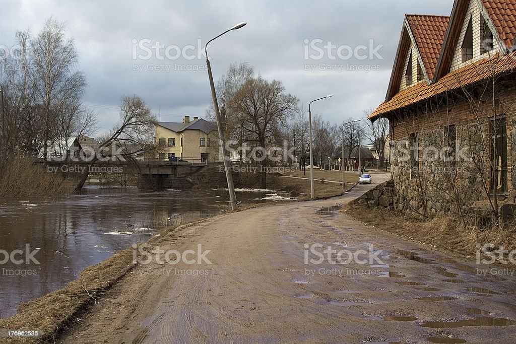 Flood in Rezekne, Latvia. royalty-free stock photo