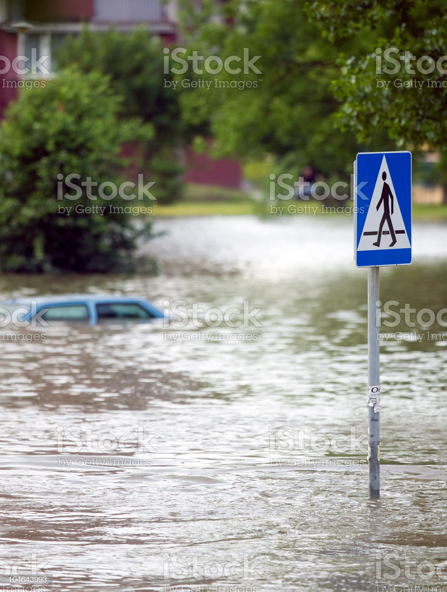 Flood in the city royalty-free stock photo