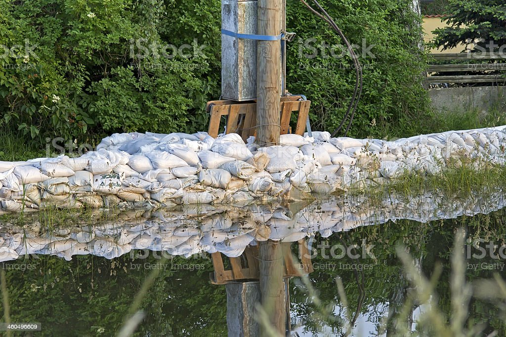 Flood in the little village royalty-free stock photo