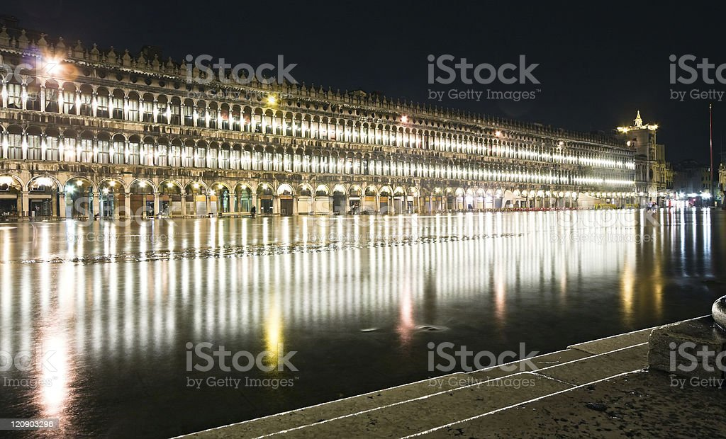 Flood in Venice royalty-free stock photo