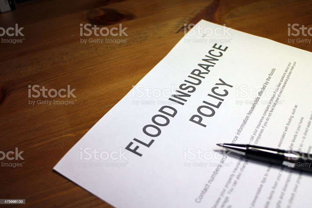 flood insurance - Flood and Water Damage stock photo