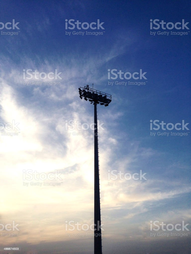 Flood Lights for Night in the Day stock photo