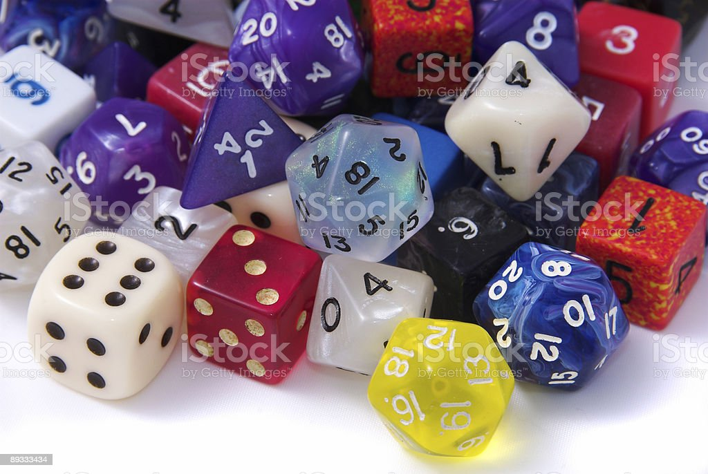 Flood of Dice stock photo