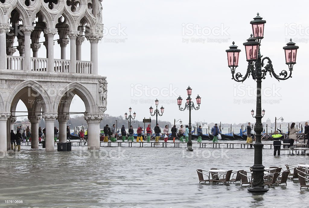 Flood on St. Mark´s Square in Venice (XXL) royalty-free stock photo