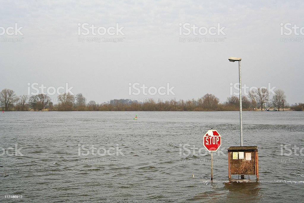 Flood on the Elbe ( Hochwasser ) royalty-free stock photo