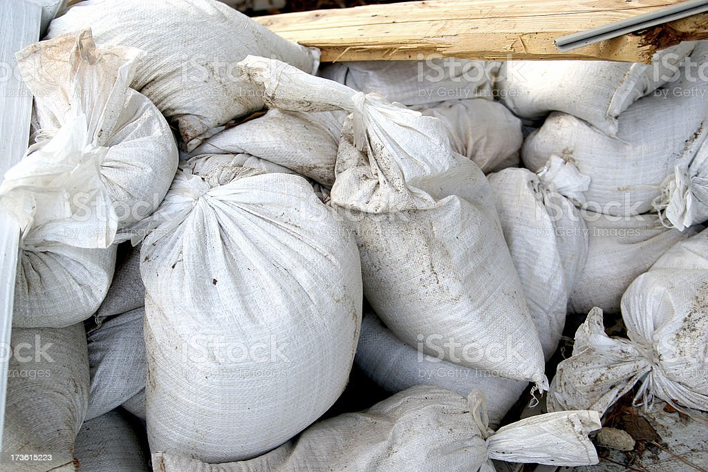 Flood Sandbags stock photo