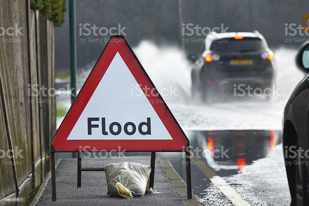 Flood Sign stock photo