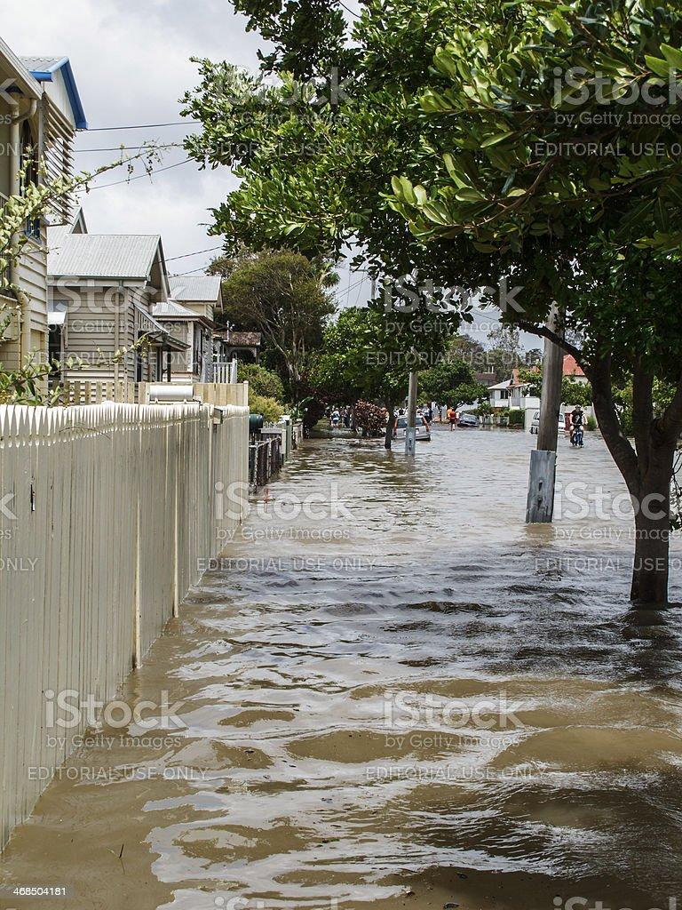 Flood Street in Brisbane royalty-free stock photo