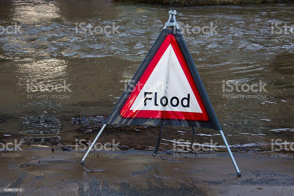 Flood Warning - England stock photo