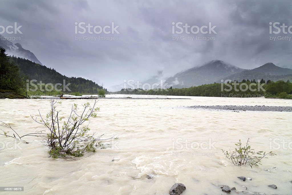 Flood water stock photo
