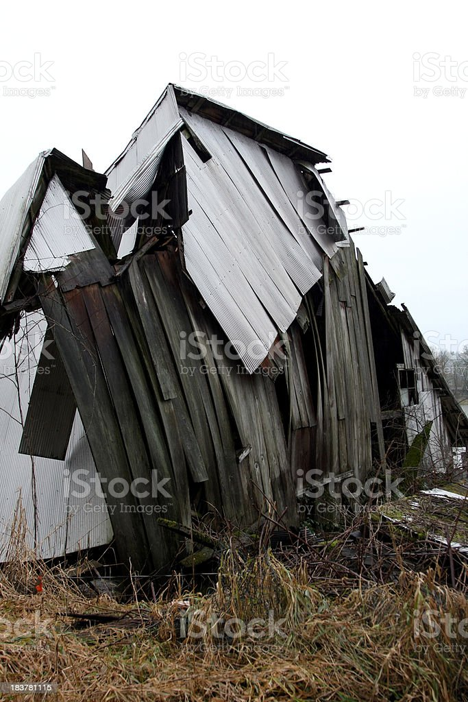 Flood-Damaged Structure stock photo