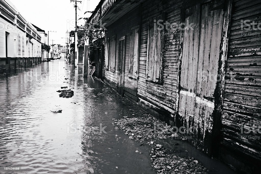 flooded alley stock photo