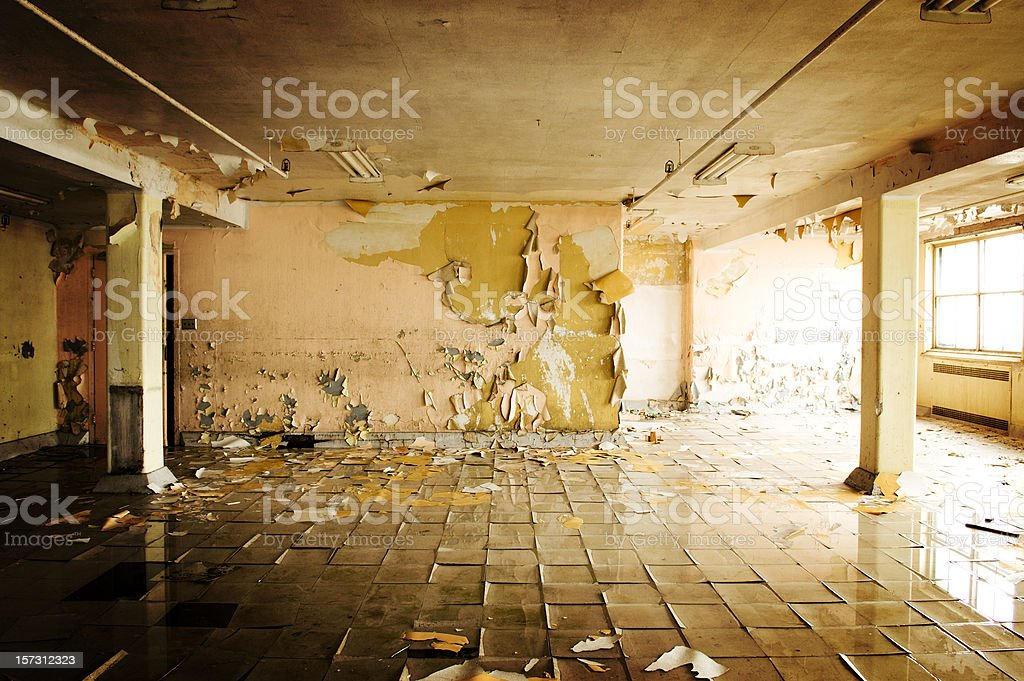 Flooded Cafeteria stock photo