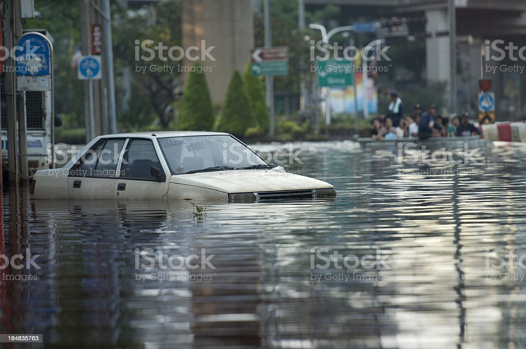 Flooded Car stock photo