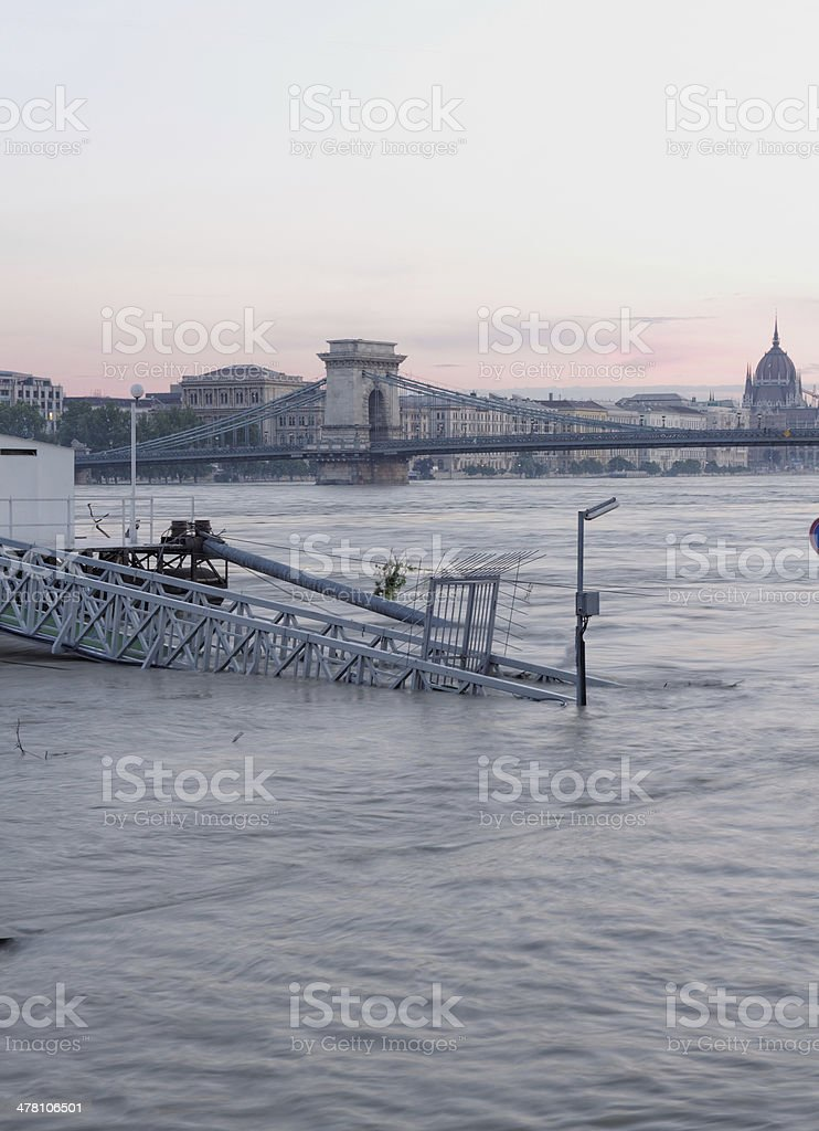 flooded city royalty-free stock photo