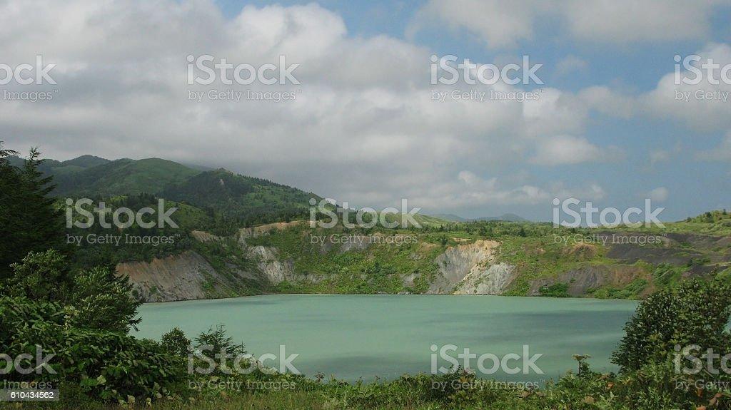 Flooded coal mine stock photo