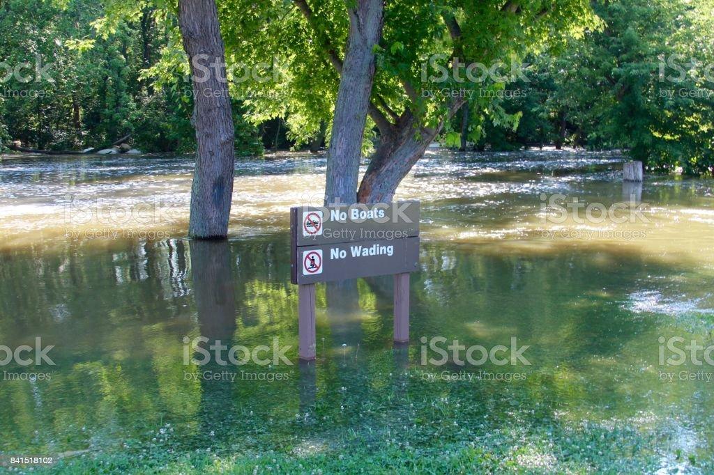 Flooded Creek stock photo