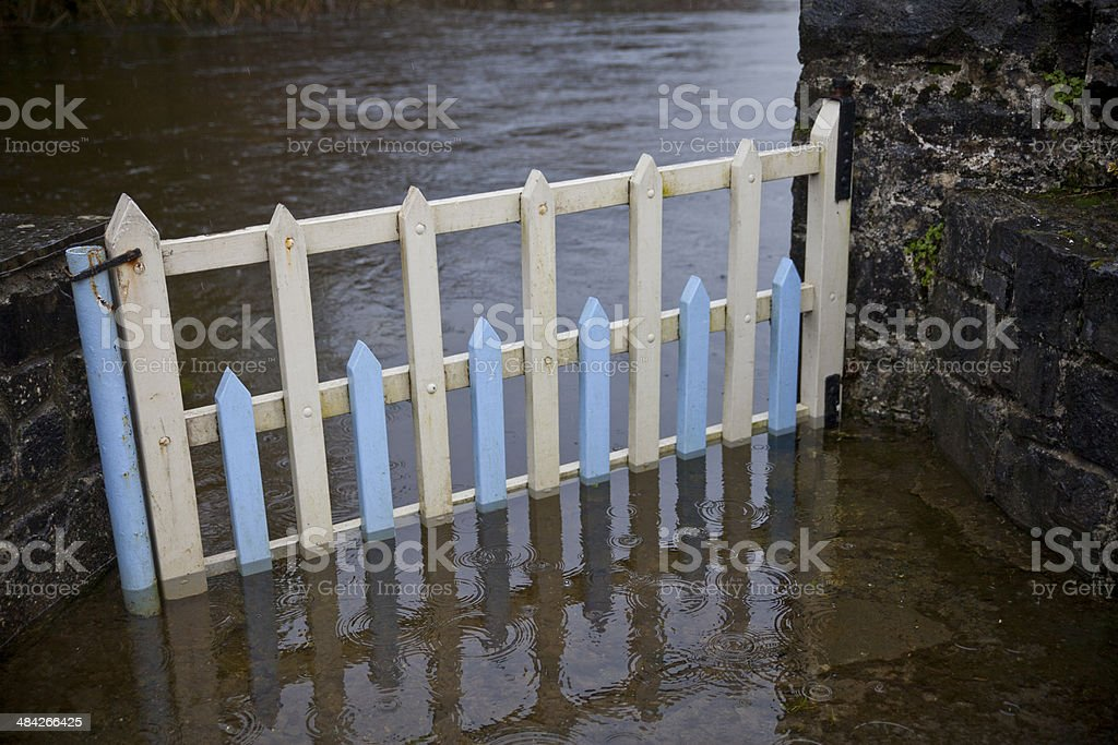 Flooded Gate stock photo
