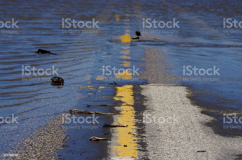 Flooded Highway royalty-free stock photo