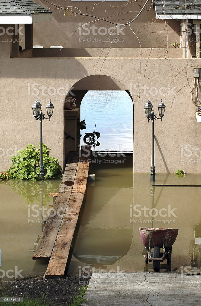 Flooded Home royalty-free stock photo