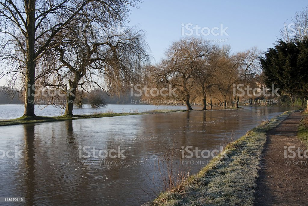 Flooded River stock photo