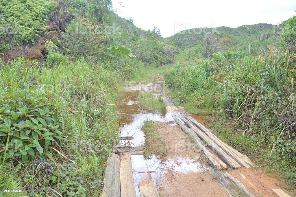 Route inondé stock photo