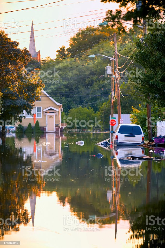 Flooded Street stock photo