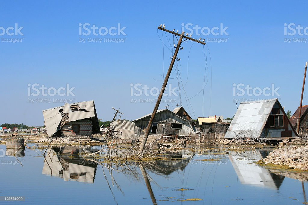 Flooded territory royalty-free stock photo