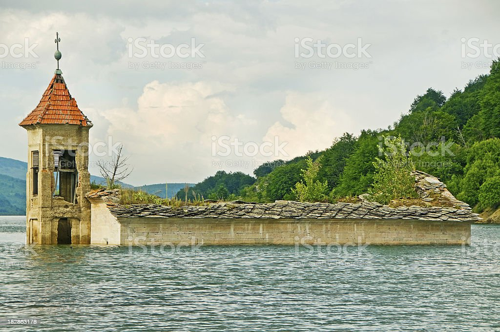 Flooded Vilage After Storm royalty-free stock photo