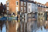 Flooded York, UK