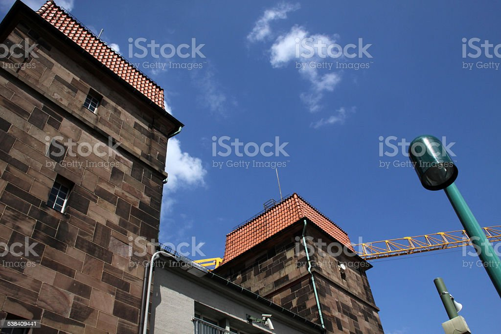 Floodgate in Minden (Germany) stock photo