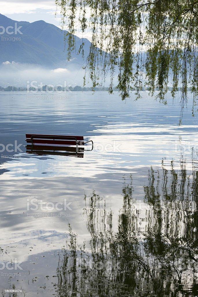 Flooding alpine lake royalty-free stock photo