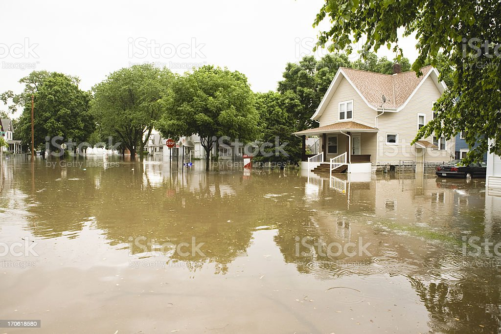 Flooding in the Midwest stock photo