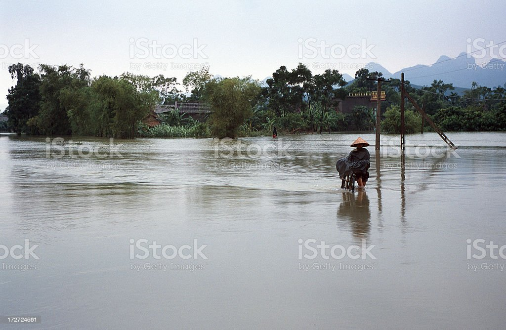 Flooding in Vietnam royalty-free stock photo