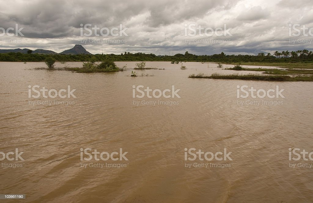 Flooding royalty-free stock photo