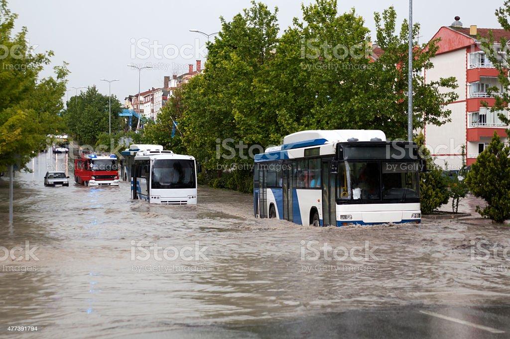 Flooding stock photo