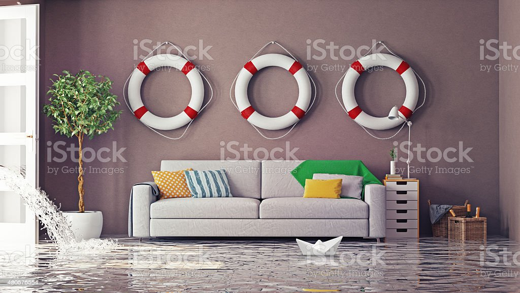 flooding stock photo
