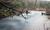Flooding river