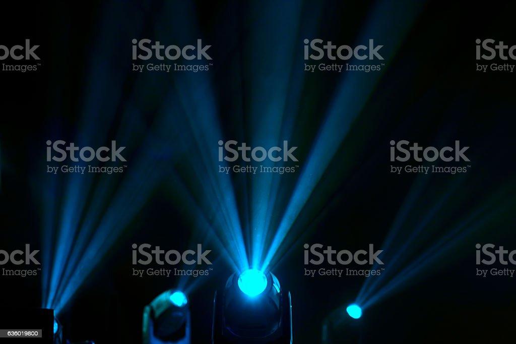 floodlights to illuminate glow in the dark stock photo