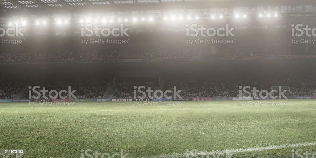 Floodlit Stadium stock photo