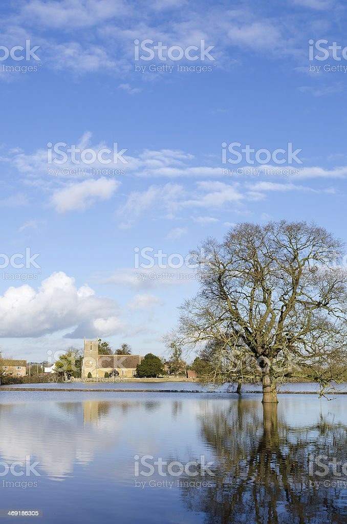 Floods, Gloucestershire royalty-free stock photo