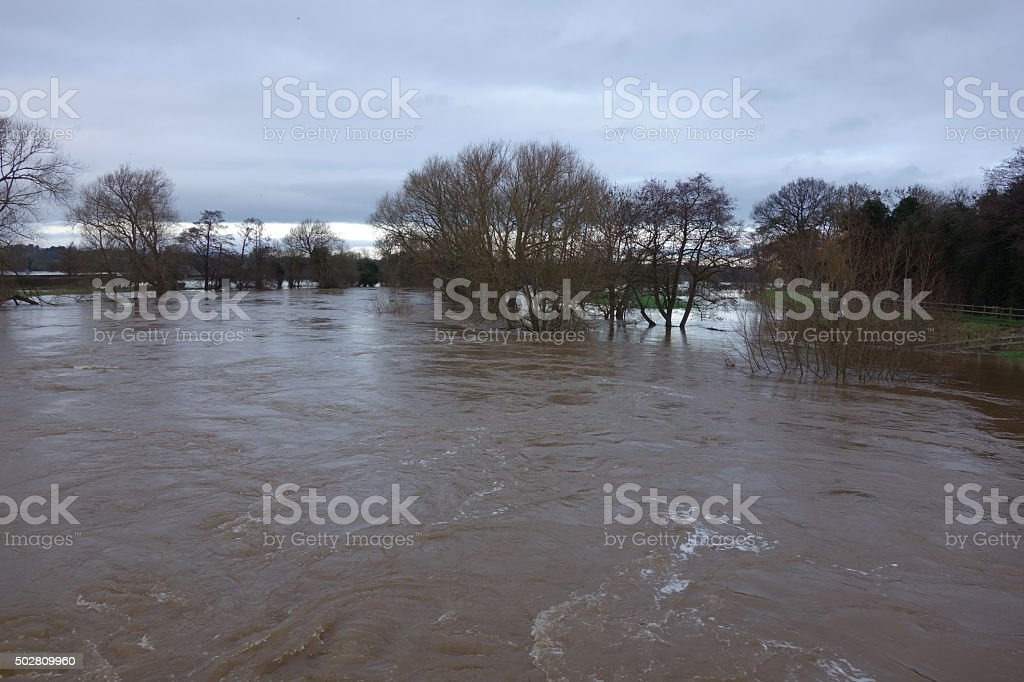 Floods stock photo