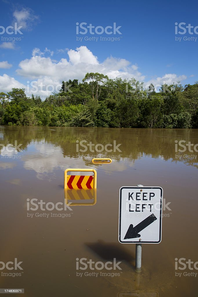 Floodwater Street Sign royalty-free stock photo