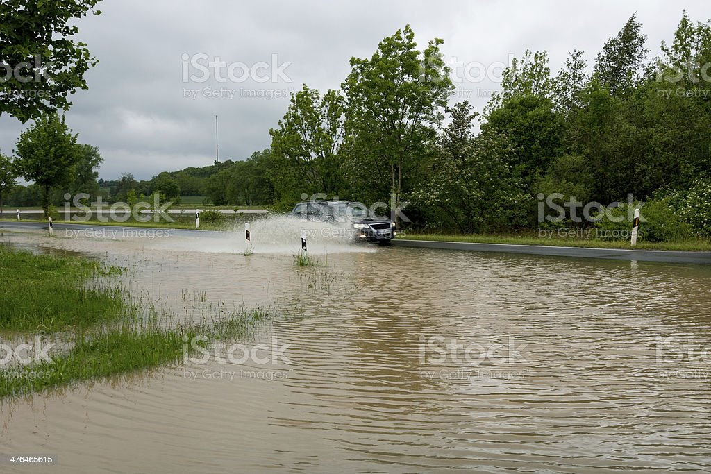 Floodwaters stock photo