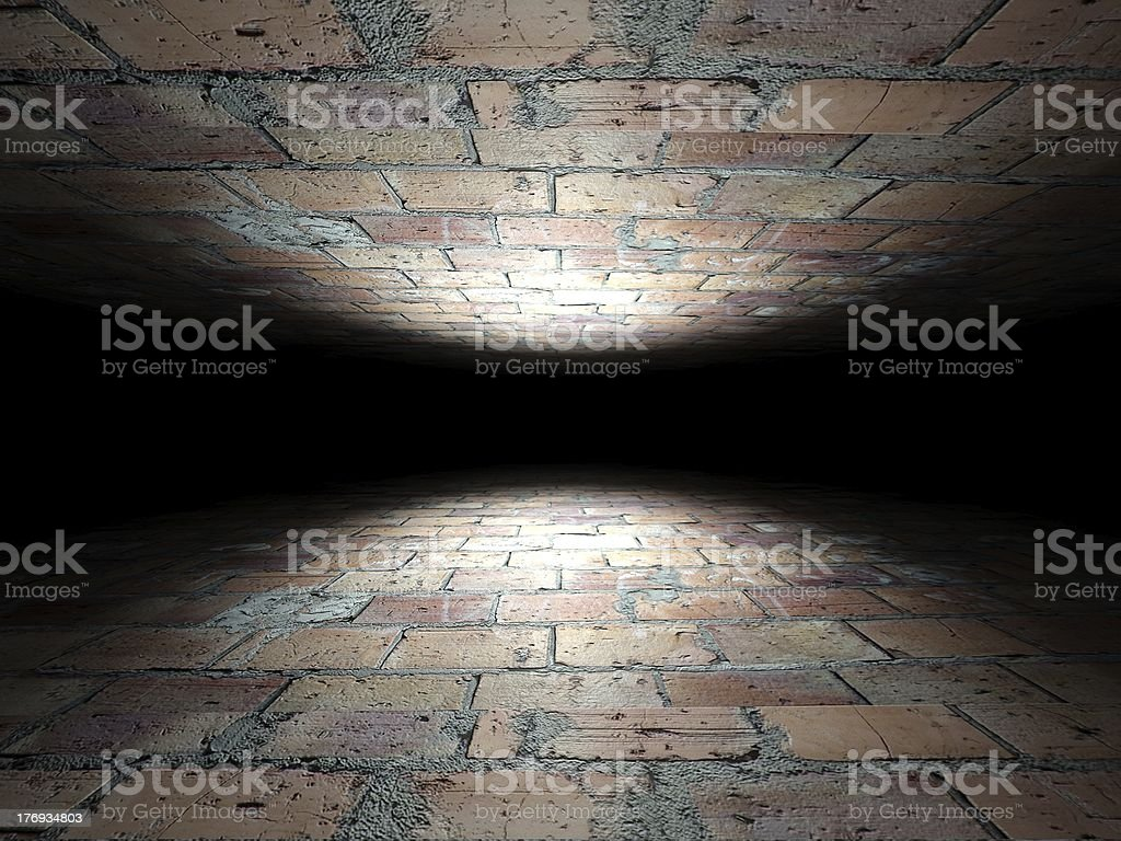 Floor and ceiling made of bricks background texture royalty-free stock photo