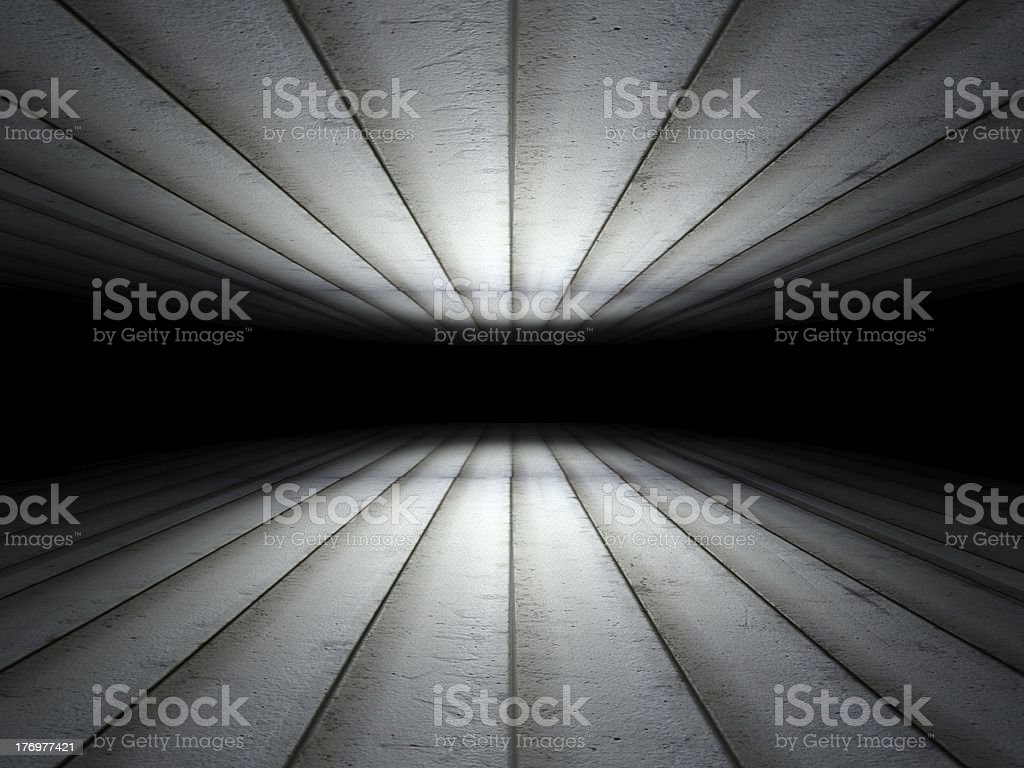 Floor and ceiling made of grunge metal panels background texture royalty-free stock photo