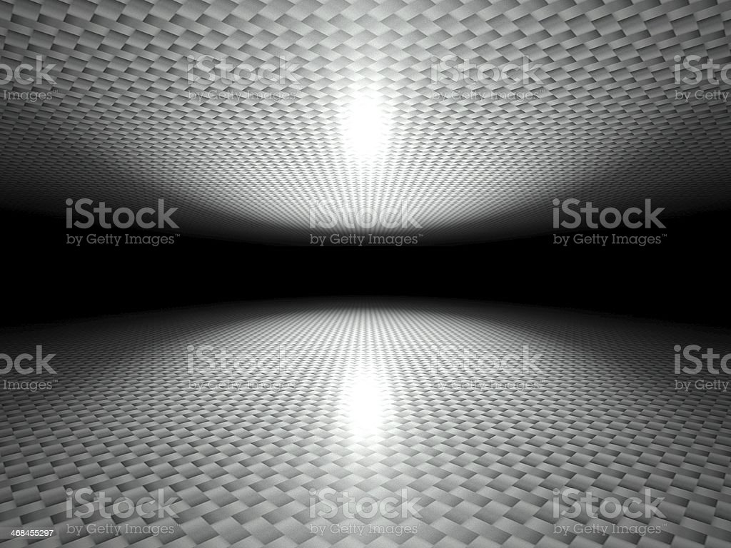 Floor and ceiling made of metal panels background texture royalty-free stock photo